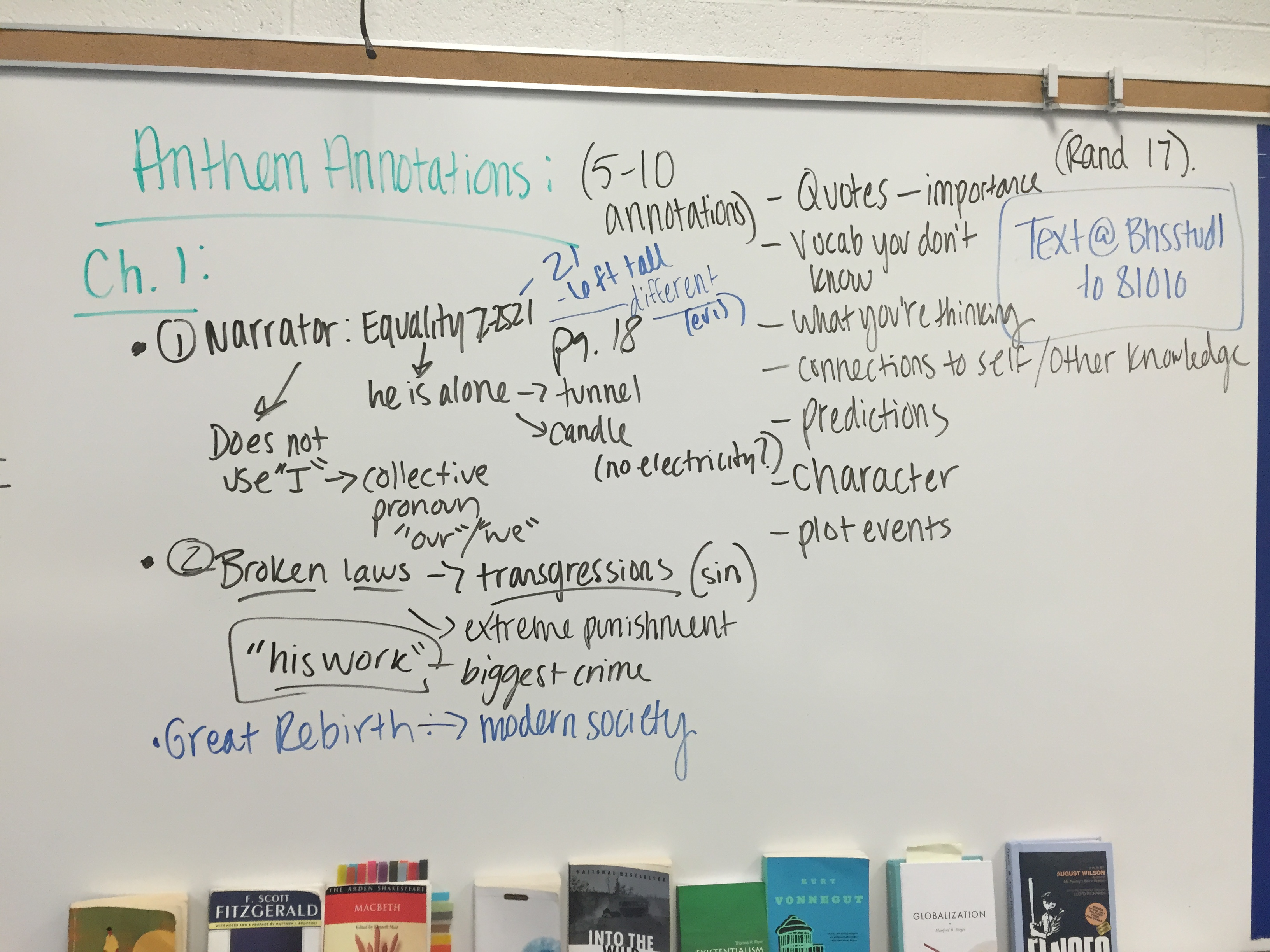 english introduction to ayn rand and anthem ms mullins we then began reading ch 1 of anthem full text is linked and here s the audio too together and taking down annotations in our notebook