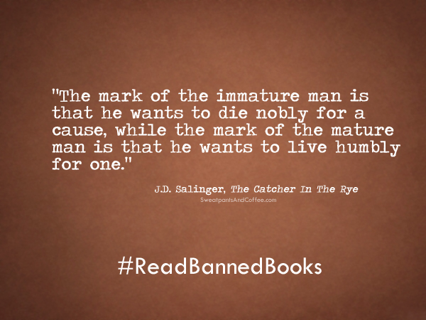 Jd Salinger Catcher In The Rye Quote Ms Mullins English